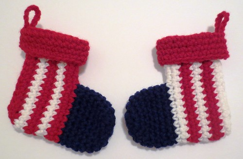 Holiday Patriotic Mini Christmas Stockings