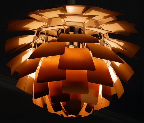 Danish-designed light fixture Design Museum in Copenhagen, Denmark
