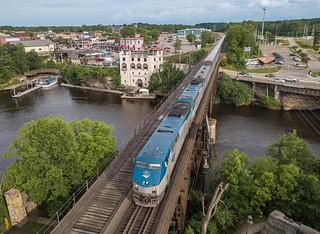 Amtrak AMTK 22(P42DC) Westbound Empire Builder Wisconsin Dells, Wisconsin