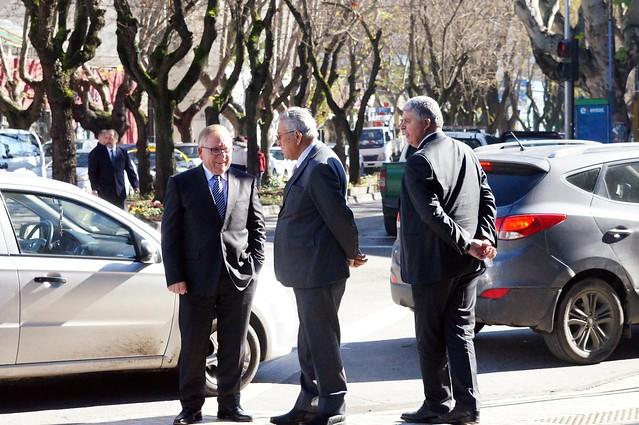 Obispo Bernardo Cartes se reúne con Intendente de la Región del Maule