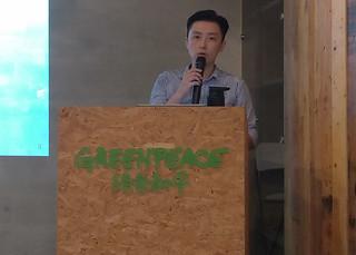 綠色和平能源專案經理李之安指出,都市是戰勝全球暖化的關鍵戰場。孫文臨攝