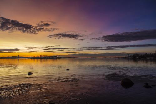 canon5dsr landscape dawn sunrise water sea reflection nature outdoors outside helsinki finland sky clouds colour