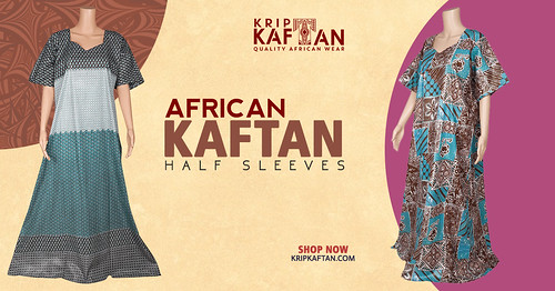 Half Sleeves Kaftan by Krip Kaftan