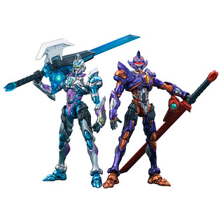 MEGAHOUSE Actibuilder《SSSS.GRIDMAN》古立特(Initial Fighter) / GRIDKNIGHT 可動人偶