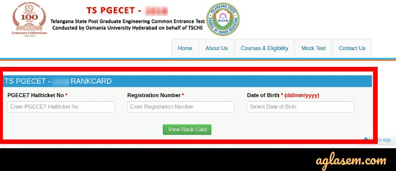 TS PGECET Result 2019 (Declared) - Check Here