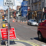 Traffic disruption on Church Street , Preston
