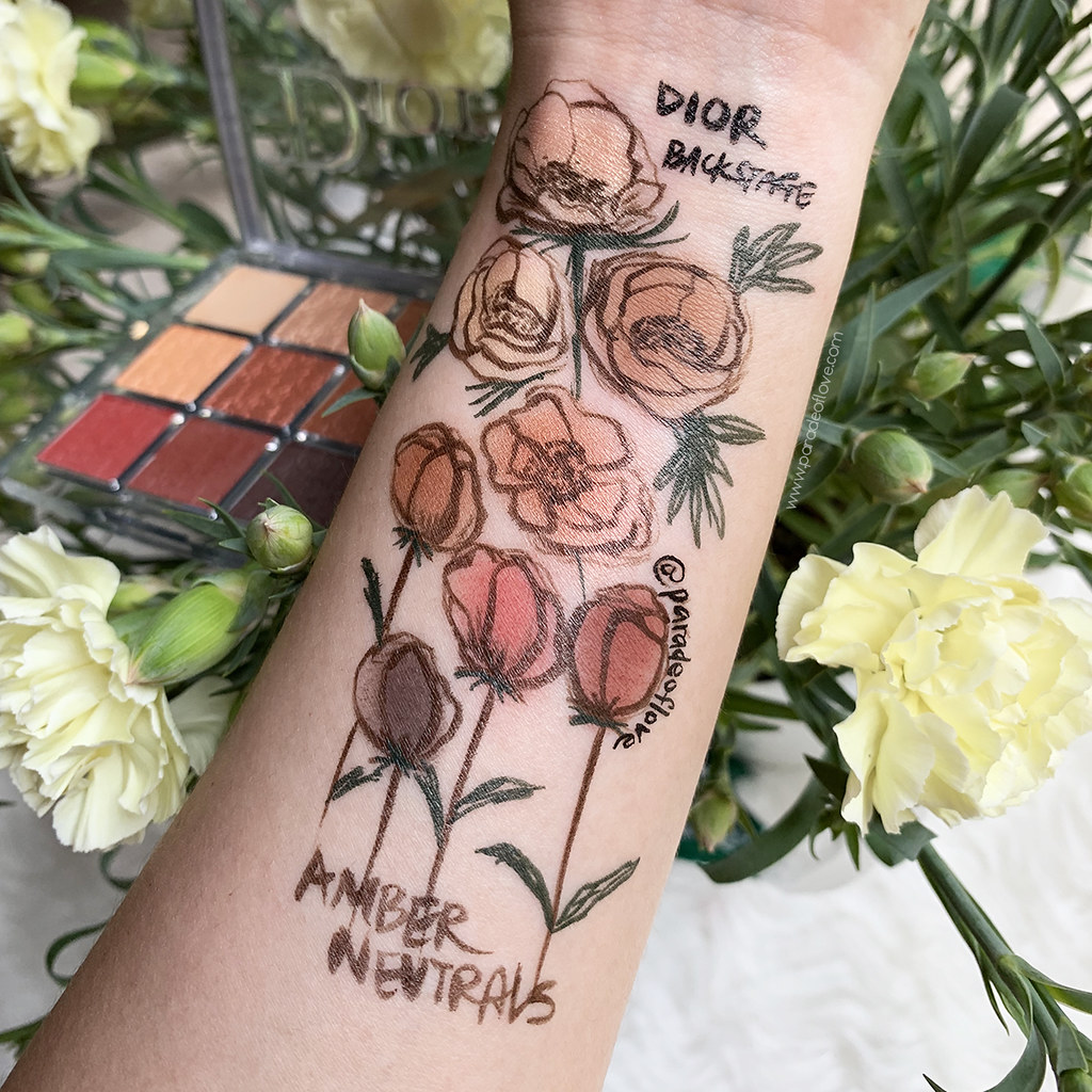 Dior Backstage Eye Palette Amber Neutrals Swatches