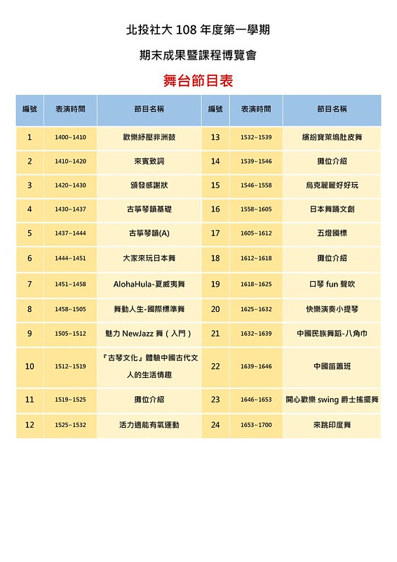 108-1成果展-節目表
