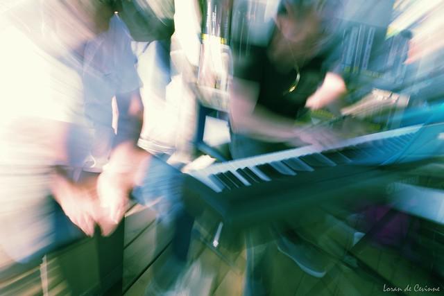 Mon ami Pierre au piano en concert Jazz aux Sablettes avec Fred au Cajon