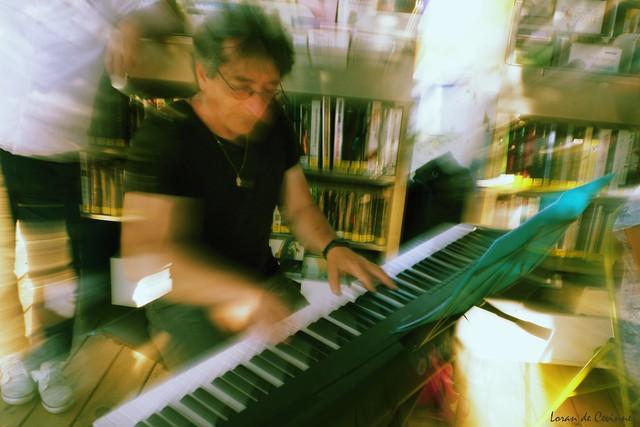 Mon ami Pierre au piano en concert Jazz aux Sablettes