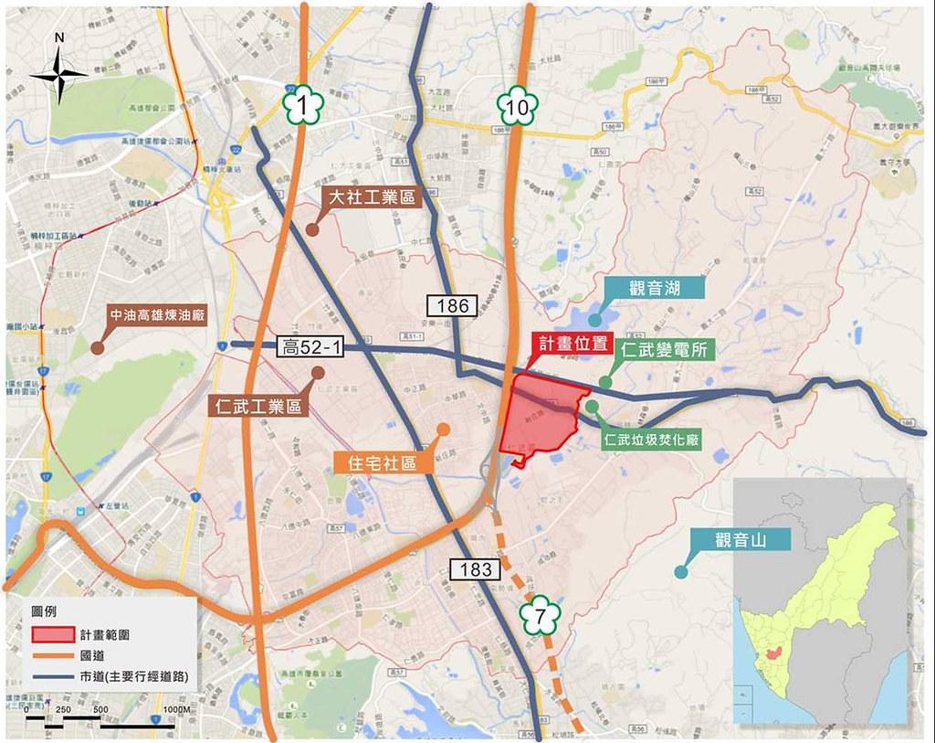 高雄仁武產業園區開發計畫。資料照:經濟部工業局。