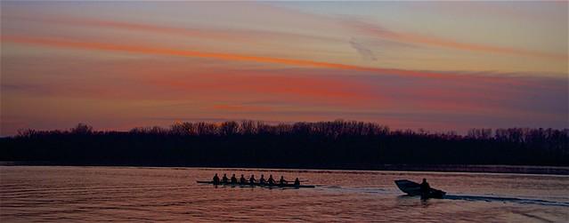 Sunset At Creve Coeur Lake, Missouri