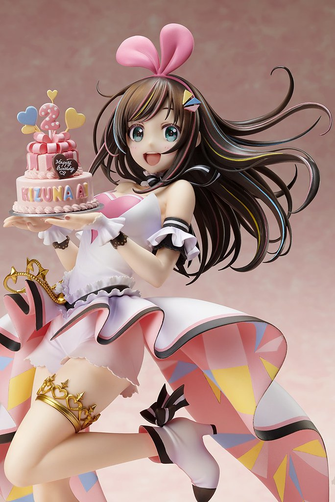 祝賀生日的紀念商品!STRONGER 虛擬Youtuber『Kizuna AI(絆愛;キズナアイ)』Kizuna AI A.I. Party! ~Birthday with U~ 1/7比例模型