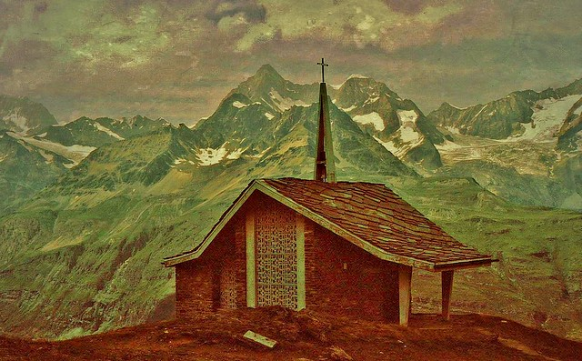 Schweiz, Rund um Zermatt, Matterhorn,  Kapelle, 76738/11619
