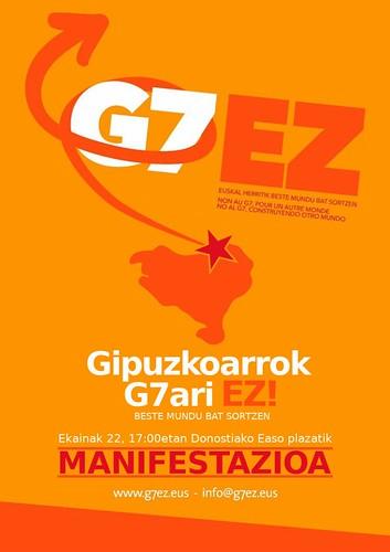 Manifestación contra el G7 en Donostia