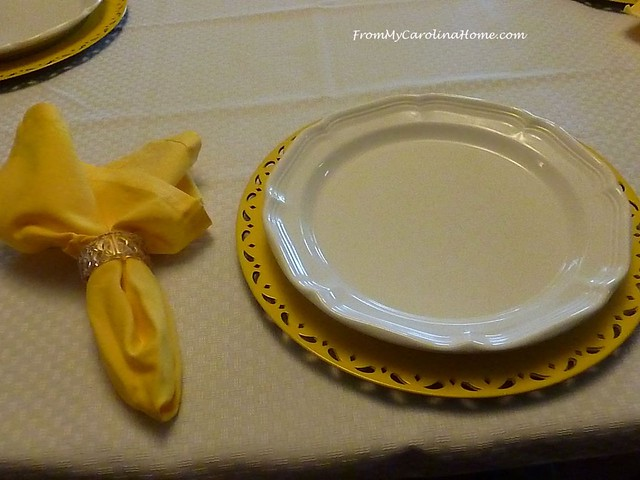 Lemon Fresh Tablescape at FromMyCarolinaHome.com
