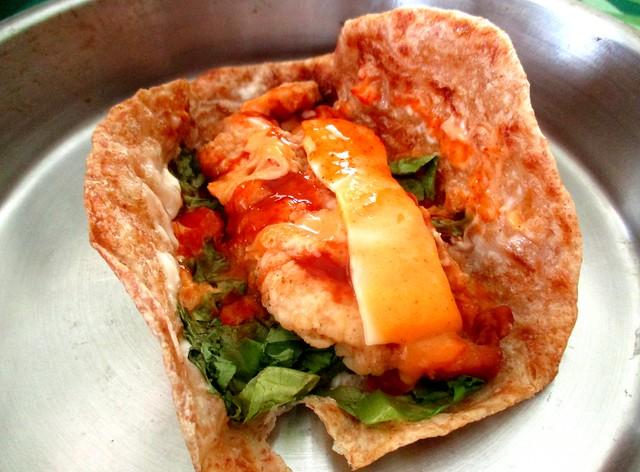 Chapati chicken wrap 3
