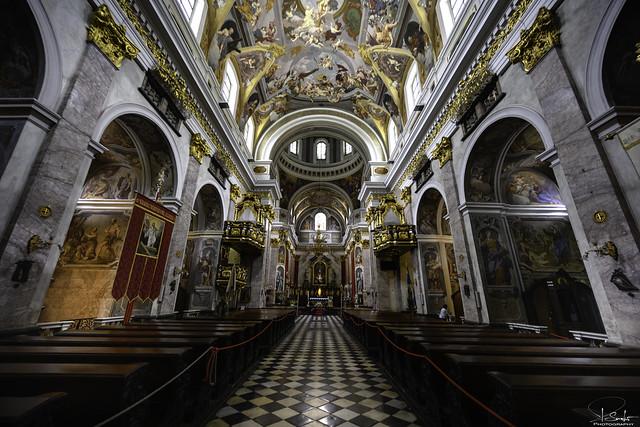 Indoor view Dom St. Nikolaus in Ljubljana - Slovenija