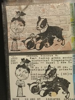 Rubber stamp ATCs