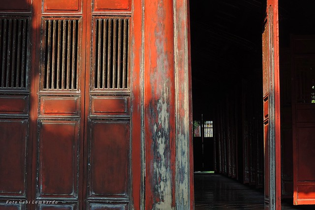 Entry in the Pagoda (Hue-Vietnam)