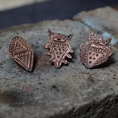 Metal Clay Pins