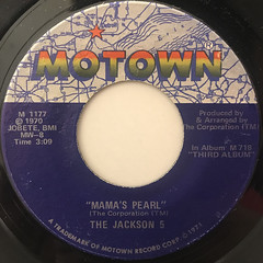 THE JACKSON 5:MAMA'S PEARL(LABEL SIDE-A)