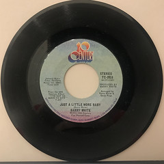 BARRY WHITE:I'M GONNA LOVE YOU JUST A LITTLE MORE BABY(RECORD SIDE-B)