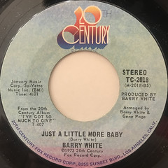 BARRY WHITE:I'M GONNA LOVE YOU JUST A LITTLE MORE BABY(LABEL SIDE-B)
