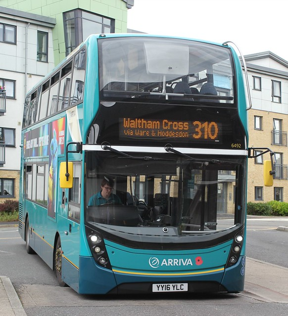 Arriva Kent Thameside / Arriva Southern Counties . 6492 YY16YLC . Hertford Bus Station . Thursday 20th-June-2019 .