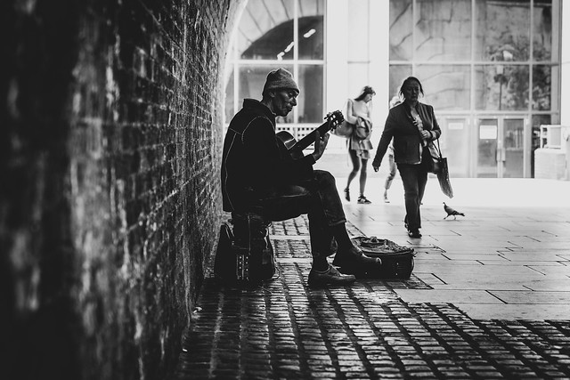 a short story about music bouncing off the bricks
