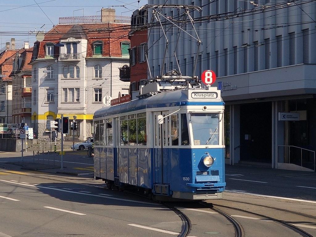 Tram Museum Zürich 2016 -  Ce 4/4 1530 beim Klusplatz  in Zürich