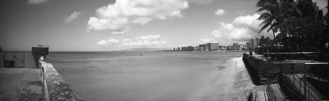 Waikiki, east to west