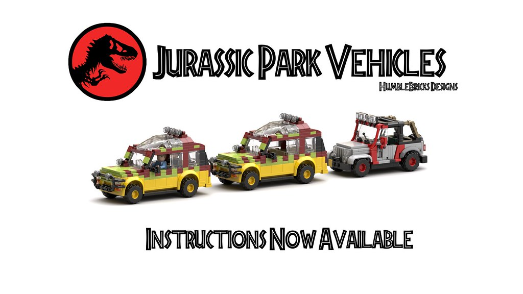 Jurassic Park Vehicles Instructions Now Available!