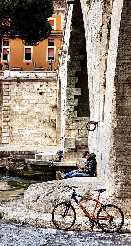 Under Ponte Cestio in Rome