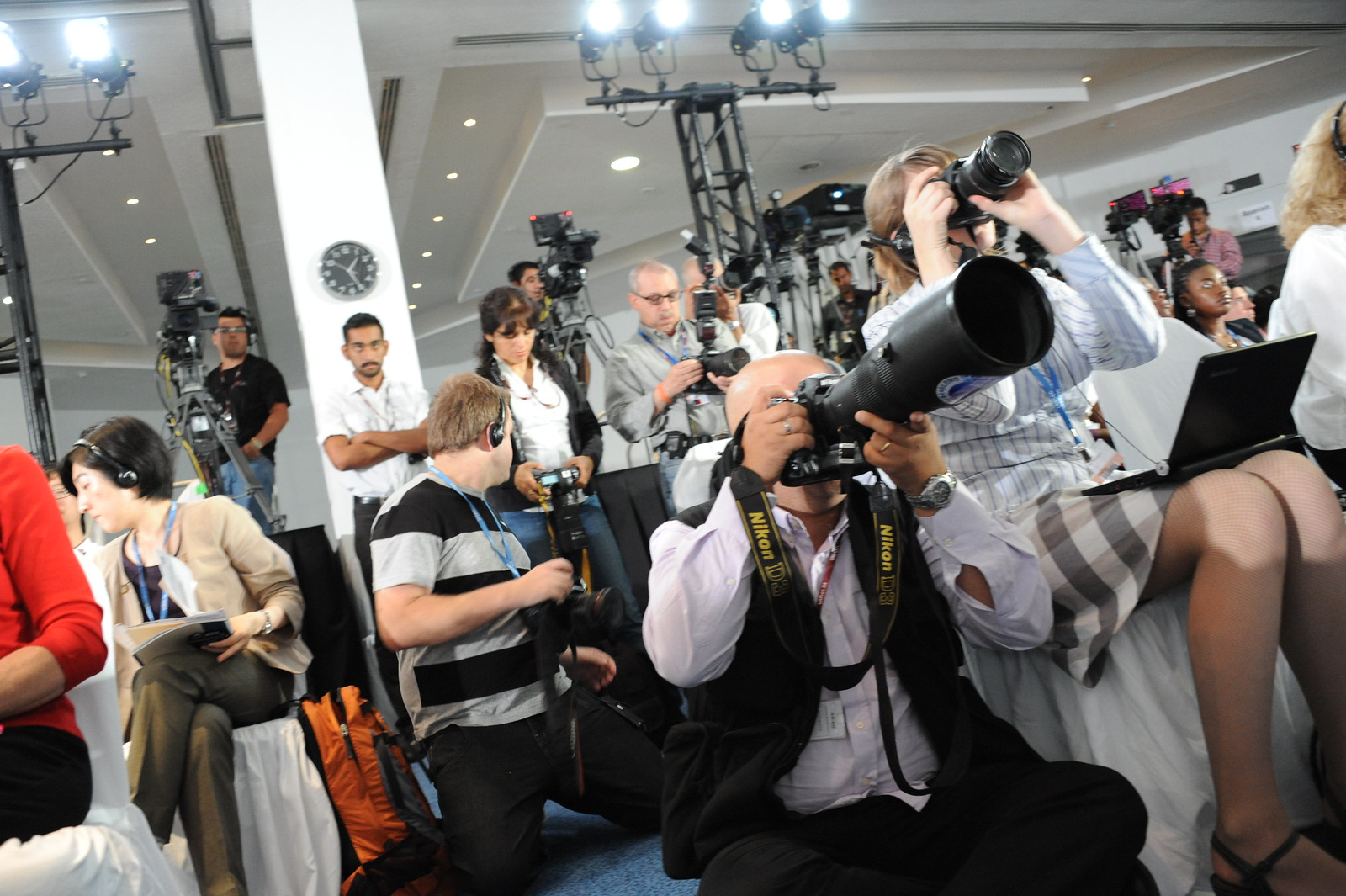 photo of journalists at climate conference