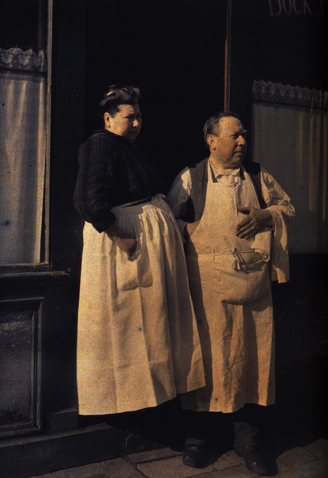 1917. Хозяева ресторана в Реймсе, 6 апреля