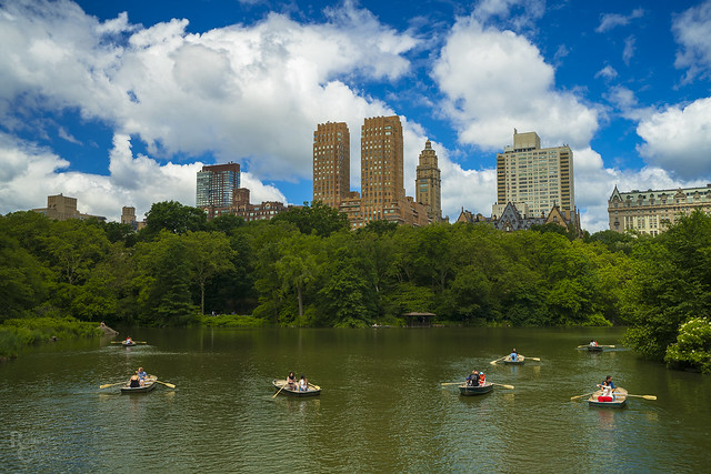 Central Park Boats and Sky