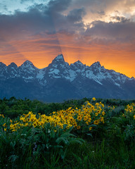 The Tetons put on one heck of a show. Last night's main act was 🔥