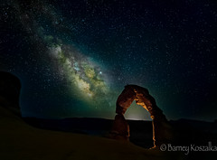 Milky Way and Delicate Arch, Arches National Park