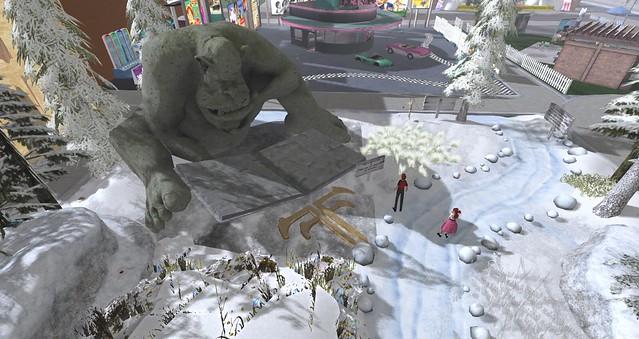 Fantasy Faire exhibit featuring Trollhaugen