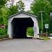 Green Sergeant's Covered Bridge in Sergeantsville, New Jersey. Spanning Wickecheoke Creek. Paul Chandler June 2019.