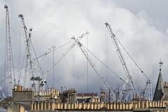 cranes and chimney pots