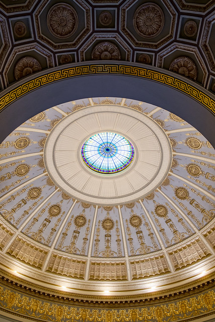 Inside the Dallas Hall Rotunda
