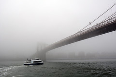 Brooklyn Bridge In Fog-2