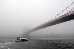 Brooklyn Bridge In Fog-2