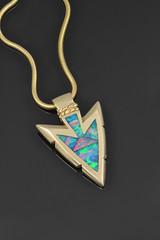 Australian Opal Arrowhead Pendant