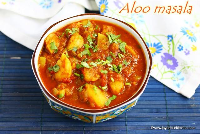 Aloo masala for poori