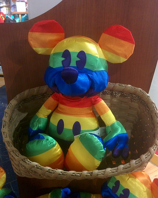 Pride Mickey #toronto #eatoncentre #disneystore #mickeymouse #plush #rainbow #pride #basket