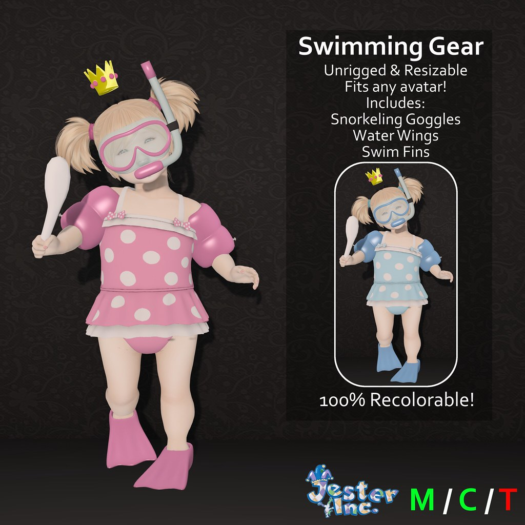 Presenting the new Swimming Gear set from Jester Inc.