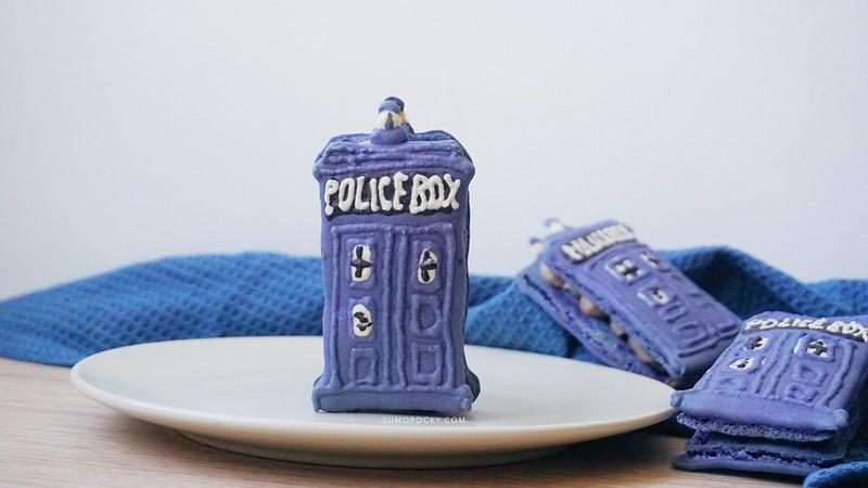 Doctor Who Tardis Macaron Recipe